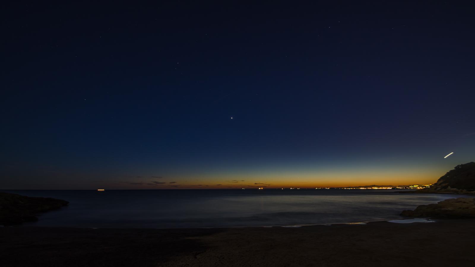 Fotografia nocturna a Cala Roca Plana CostaDaurada-Tarragona)