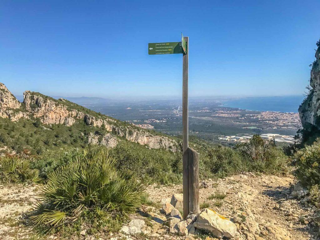 El coll de Puntalt i les seves vistes del Baix Camp